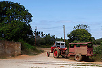 Central America, Cuba, Remedios. Farm tractor of Remidios.