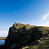 Clifftop ruins of Duntulm castle, Trotternish, Isle of Skye, Scotland
