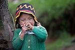 Three-year old Nely Roxana Miranda in Buena Vista Bacchuc, a small Mam-speaking Maya village in Comitancillo, Guatemala.