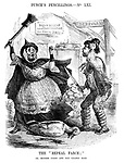 """Punch's Pencillings. No LXI. The """"Repeal Farce;"""" or Mother Goose and the Golden Eggs."""