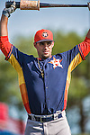 10 March 2014: Houston Astros left fielder J.D. Martinez awaits his turn in the batting cage prior to a Spring Training game against the Washington Nationals at Space Coast Stadium in Viera, Florida. The Astros defeated the Nationals 7-4 in Grapefruit League play. Mandatory Credit: Ed Wolfstein Photo *** RAW (NEF) Image File Available ***