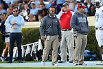 19 November 2016: The Citadel head coach Brent Thompson. The University of North Carolina Tar Heels hosted the The Citadel, The Military College of South Carolina Bulldogs at Kenan Memorial Stadium in Chapel Hill, North Carolina in a 2016 NCAA Division I College Football game. UNC won the game 41-7.