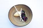 cherries, almond ice cream and birch