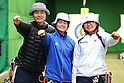 (L to R) Ren Hayakawa (JPN), Kaori Kawanaka (JPN), Miki Kanie (JPN), .April 22, 2012 - Archery : .Archery Japan National Team Selection match for The World Cup Ogden 2012 .at JISS Archery Field, Tokyo, Japan. .(Photo by Daiju Kitamura/AFLO SPORT) [1045]