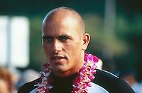 Kelly Slater (USA) at Eddie Aikau opening ceremony, Hawaii..photo:  joliphotos.com