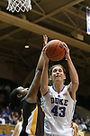 23 November 2012: Duke's Allison Vernerey (FRA) (43). The Duke University Blue Devils played the Valparaiso University Crusaders at Cameron Indoor Stadium in Durham, North Carolina in an NCAA Division I Women's Basketball game. Duke won the game 90-45.