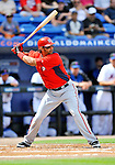 28 February 2011: Washington Nationals' outfielder Michael Morse in action during a Spring Training game against the New York Mets at Digital Domain Park in Port St. Lucie, Florida. The Nationals defeated the Mets 9-3 in Grapefruit League action. Mandatory Credit: Ed Wolfstein Photo