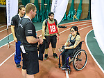 MONTREAL, QC - APRIL 29:  A participant speaks with evaluators during the 2017 Montreal Paralympian Search at Complexe sportif Claude-Robillard. Photo: Minas Panagiotakis/Canadian Paralympic Committee