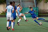Seattle, WA - Sunday, May 21, 2017: Lauren Barnes during a regular season National Women's Soccer League (NWSL) match between the Seattle Reign FC and the Orlando Pride at Memorial Stadium.