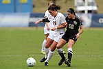 03 November 2010: Florida States CC Cobb (16) and Wake Forest's Bianca D'Agostino (10). The Wake Forest University Demon Deacons defeated the Florida State Seminoles 3-1 at Koka Booth Stadium at WakeMed Soccer Park in Cary, North Carolina in an ACC Women's Soccer Tournament Quarterfinal game.