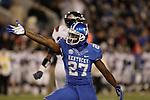 Kentucky Wildcats wide receiver Aaron Boyd (27) celebrates after a tackle during the first half of the UK Football game v. Samford at Commonwealth Stadium in Lexington, Ky., on Saturday, November 17, 2012. Photo by Genevieve Adams | Staff