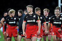 Owen Farrell of Saracens looks on after the match. Aviva Premiership match, between Saracens and Worcester Warriors on November 28, 2015 at Twickenham Stadium in London, England. Photo by: Patrick Khachfe / JMP