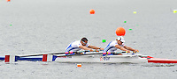Hamilton, NEW ZEALAND.   FRA TAMi2X. Bow Perle BOUGE and Stephane TARDIEU.   2010 World Rowing Championship on Lake Karapiro, Monday 01.11.2010. [Mandatory Credit Peter Spurrier:Intersport Images]. Adaptive Rowing