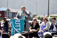 Lower Hutt Mayor Ray Wallace, Petone Settlers 175th Anniversary on the Petone Foreshore, Lower Hutt, New Zealand on Sunday 19 January 2015. <br /> Photo by Masanori Udagawa.<br /> www.photowellington.photoshelter.com.