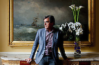 Sebastian Barry is pictured at the Merrion Hotel Dublin.Picture James Horan/Collins Photos.