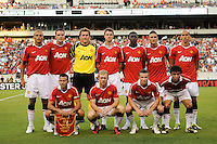Manchester United starting eleven. Manchester United (EPL) defeated the Philadelphia Union (MLS) 1-0 during an international friendly at Lincoln Financial Field in Philadelphia, PA, on July 21, 2010.
