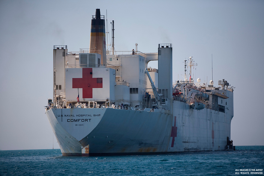 The USNS ship left Baltimore Maryland for Haiti days after the 7.0 earthquake hit to aid the victims of the quake.