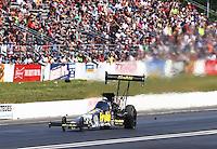 Jun 12, 2016; Englishtown, NJ, USA; NHRA top fuel driver Leah Pritchett during the Summernationals at Old Bridge Township Raceway Park. Mandatory Credit: Mark J. Rebilas-USA TODAY Sports