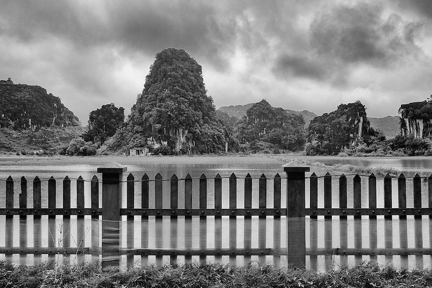 Black and White in the Ninh Binh area North Vietnam