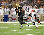 New Orleans Saints Devery Henderson (19) vs. New York Giants  Aaron Ross (31) at the Superdome in New Orleans, La. on Monday, November 28, 2011. New Orleans won 49-24.