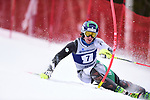 FRANCONIA, NH - MARCH 10:   Thomas Woodson of Dartmouth competes during the Men's Slalom event at the Division I Men's and Women's Skiing Championships held at Cannon Mountain on March 10, 2017 in Franconia, New Hampshire. (Photo by Gil Talbot/NCAA Photos via Getty Images)