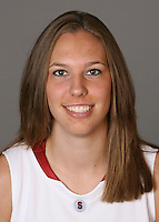 STANFORD, CA - SEPTEMBER 28:  Kayla Pedersen of the Stanford Cardinal women's basketball team poses for a headshot on September 28, 2009 in Stanford, California.