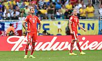 FUSSBALL WM 2014  VORRUNDE    GRUPPE E     Schweiz - Frankreich                   20.06.2014 Valon Behrami (Schweiz) ist enttaeuscht