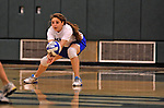 28 October 2012: Yeshiva University Maccabee Shira Genauer, a Junior from Seattle, WA, in action against the Old Westbury Panthers at SUNY Old Westbury in Old Westbury, NY. The Panthers defeated the Maccabees 3-0 in NCAA women's volleyball play. Mandatory Credit: Ed Wolfstein Photo