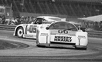 The #00 March-Porsche 83G of Sarel van der Merwe, Graham Duxbury and Tony Martin avoids a spinning Porsche as it races to victory in the SunBank 24 at Daytona, Daytona International Speedway, Daytona Beach, FL, Feb. 4-5, 1984. (Photo by Brian Cleary/www.bcpix.com)