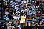 December 9, 2007. Columbia, SC.. Democratic presidential hopeful and US Senator, Barack Obama held a rally at the University of South Carolina's football stadium, drawing a crowd of an estimated 29,000 people, with special guest Oprah Winfrey.. Oprah Winfrey and Michelle Obama hugged on stage.. .