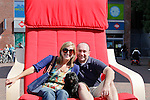 Jess and I on a big Ikea chair in Delft