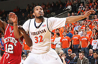 Virginia's Mike Scott_Virginia held North Carolina State scoreless for more than 7 minutes on the way to a 59-47 victory Wednesday night at the John Paul Jones Arena in Charlottesville, VA. Virginia (14-6, 5-2 Atlantic Coast Conference) regained a share of first place in the conference. (Photo/Andrew Shurtleff)....