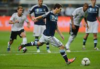 FUSSBALL Nationalmannschaft Freundschaftsspiel:  Deutschland - Argentinien             15.08.2012 Lionel Messi (Argentinien) vergibt einen Elfmeter