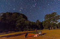 Orion, Taurus and Jupiter in December 2012 looking north from a site in Australia, with my telescopes set up at Timor Cottage at Coonabarabran. A single 75 second exposure at ISO 1600 with the Canon 60Da and 10-22mm lens at f/4.