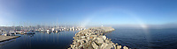 Fog Bow from Port of Sidney, Sidney, British Columbia, Canada