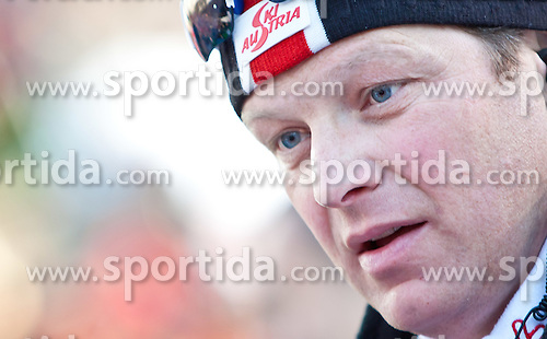 "22.01.2012, Südtirol Arena, Antholz, ITA, E.ON IBU Weltcup, 6. Biathlon, Antholz, Staffel Herren, im Bild Der österreichische Herrencheftrainer Reinhard Gösweiner // during Men Relay n E.ON IBU World Cup 6th, ""Southtyrol Arena"", Antholz-Anterselva, Italy on 2012/01/22, EXPA Pictures © 2012, PhotoCredit: EXPA/ Juergen Feichter"