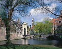 AA00416-01...BELGUM - Bruges, a town laced with a picturesque system of cannals.