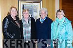 Kathleen Murphy, Sr Scholiastica, Sr Colmunbanus and Mary Shanahan at  the Mon Hugh O'Flaherty humanitarian award to Fr Shay Cullen in the killarney Avenue Hotel on Saturday night