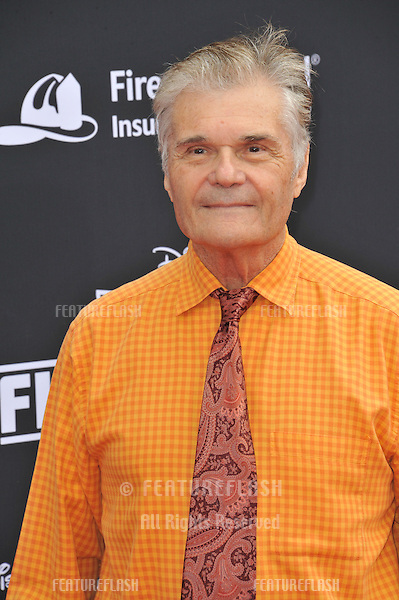 Fred Willard at the world premiere of his movie Disney's &quot;Planes: Fire &amp; Rescue&quot; at the El Capitan Theatre, Hollywood.<br /> July 15, 2014  Los Angeles, CA<br /> Picture: Paul Smith / Featureflash
