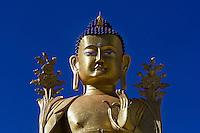 The 23 m (75 ft) statue of Maitreya at Likir Monastery, Ladakh, Jammu and Kashmir, India