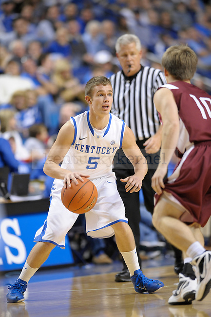 UK guard Jarrod Polson controls the ball during the University of Kentucky Men's basketball game against Transylvania University at Rupp Arena in Lexington, Ky., on 11/2/11. Uk won the game 97-53. Photo by Mike Weaver | Staff