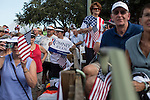 People wait for the beginning of a campaign rally with Republican Vice Presidential candidate Paul Ryan (R-WI) on Saturday, August 18, 2012 in The Villages, FL.