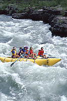 Whitewater Rafting in a cataraft on the Snake River in Jackson Hole Wyoming