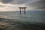 Floating torii gate, Lake Biwa, Japan
