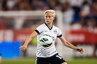 United States (USA) midfielder Megan Rapinoe (15). The women's national team of the United States defeated the Korea Republic 5-0 during an international friendly at Red Bull Arena in Harrison, NJ, on June 20, 2013.