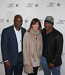 Boxing Champions Evander Holyfield and Mike Tyson With Tribeca Film Festival Founder Jane Rosenthal Attend Tribeca Talks: After the Movie: Champs Held at SVA Theatre , NYAttends Tribeca Talks: After the Movie: Champs Held at SVA Theatre , NY