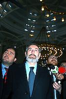 Roma 13 Marzo 2006.Il  rabbino capo di Roma, Riccardo Di Segni  in visita alla Moschea di Roma, .Rome March 13, 2006.The chief rabbi of Rome, Riccardo Di Segni visited the Mosque of Rome,
