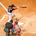 29 May 2016: Washington Nationals outfielder Michael Taylor in action against the St. Louis Cardinals at Nationals Park in Washington, DC. The Nationals defeated the Cardinals 10-2 to split their 4-game series. Mandatory Credit: Ed Wolfstein Photo *** RAW (NEF) Image File Available ***