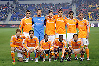 Houston Dynamo starting eleven. The New York Red Bulls  and the Houston Dynamo played to a 1-1 tie during a Major League Soccer (MLS) match at Red Bull Arena in Harrison, NJ, on April 02, 2011.