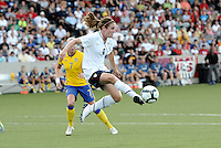 Heather O'Reilly...USWNT tied Sweden 1-1 at Morison Stadium, Nebraska.